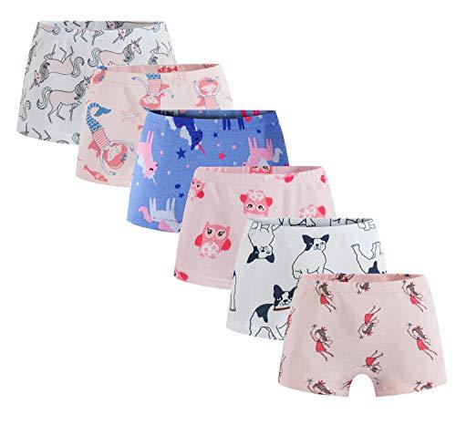Boboking Soft 100% Cotton Girls' Panties Boyshort Little Girls' Underwear Toddler Undies 2/3t