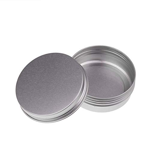 DPois Lot de 24 Boites Rondes en Aluminium 15ML/30ML/50ML/60ML Boîte de Baume à Lèvres Pots Boîte de Rangement pour Cosmétique Baume Bougie Argenté 30