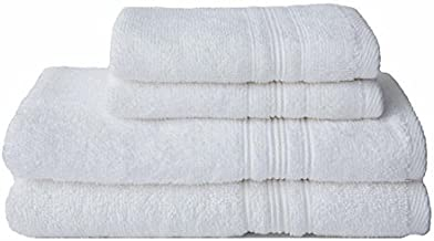 Charisma 4pk Luxury Towels Set: 2 Hand Towels & 2 Wash Cloths (White)
