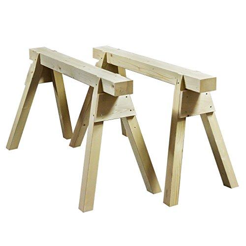 1 Paar Gerüstbock Arbeitsbock Profi-Holzbock Zimmererbock Stützbock Holzböcke
