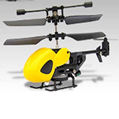 Helicóptero de controle remoto AKDSteel 5012 com 2 acessos, durável, pequeno, infravermelho, 2 canais, bico redondo (amarelo), brinquedo para dar de presente