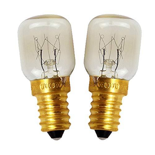 Mises 120V 110V~130V E14 25W Incandescent Bulb Oven Refrigerator Light Bulb Oven Bulb Oils Burner Bulb Candle Oil Wax Warmer Bulb Appliance Bulb (2 Pack)