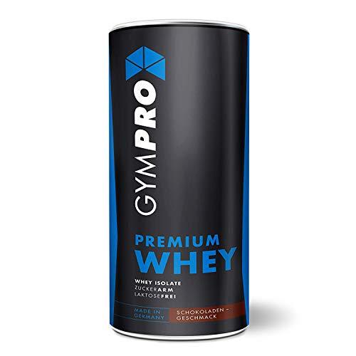 GymPro - Premium Whey Protein Pulver (Schokolade 1000g) laktosefrei mit 88% reinem Eiweiss. Whey Isolat & Whey Konzentrat mit Aminosäuren (BCAA). Hergestellt in Deutschland.