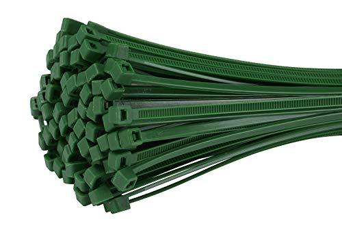 Fix&Easy Kabelbinder 2,5x100mm Grün 100 Stück Set für Blätterzaun Blickschutz Drahtzaun Pflanzstäbe Rankstäbe
