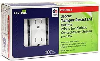 10-Pack Leviton T5325-WMP 15 Amp 125 Volt Tamper Resistant