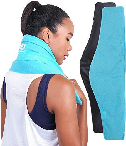 "ICEWRAPS Neck and Shoulder Ice Pack with Soft Fabric Cover - 7'x28""..."