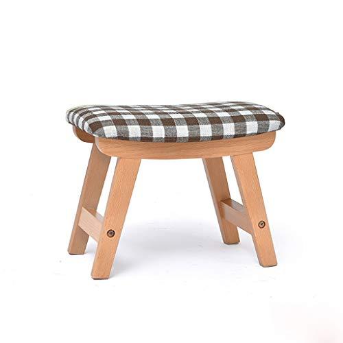 Taburetes de madera maciza silla pequeña casa sofá heces fecales de tela gruesa banco de heces de moda heces heces de los niños de madera taburetes taburetes nórdico adultos D3/28 ( Color : La