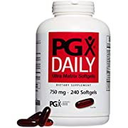 PGX by Natural Factors, Daily Ultra Matrix 750 mg, Helps Maintain Blood Sugar and Cholesterol Levels Already in The Normal Range, 240 softgels (80 Servings)