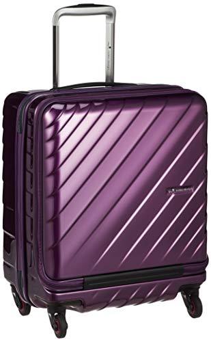 [ヒデオワカマツ] スーツケース ジッパー フロントオープン ウェーブII 機内持込最大容量 機内持ち込み可 85-76570 保証付 42L 50 cm 3.3kg パープル