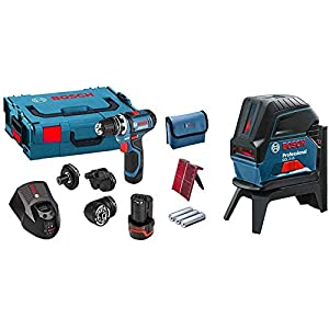 Bosch Professional GSR 12 V-15 FC Cordless Drill Driver Set with 2 x 12 V 2.0 Ah Lithium-Ion Batteries + Bosch…