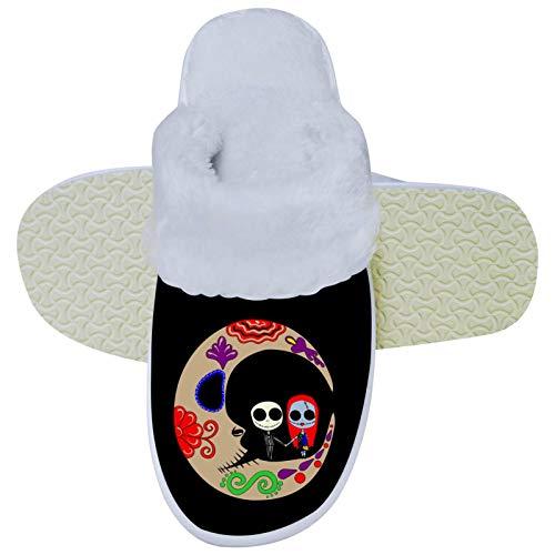 436 The Night-ma-re Before Christmas - Pantuflas unisex con espuma viscoelástica para el dormitorio, zapatos suaves para interiores y exteriores, 10.5 – 11 B (M) USWomen / 9-9.5D (M) EE. UU