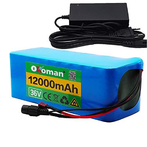 Bateria Bicicleta Electrica 10s4p 36v 12000mah 18650 Paquete de batería de Iones de Litio 500w Batería de Alta Potencia Ebike Bicicleta eléctrica BMS + Cargador