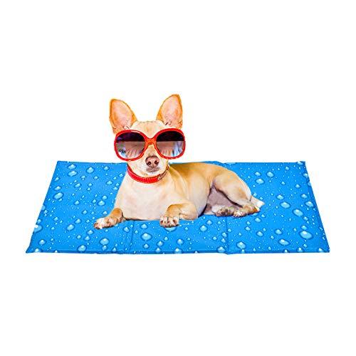 XIAPIA Manta Refrigerante Perro Alfombrilla de Refrigeración Alfombra Refrescante Colchoneta Cama Gato Frio Animales Colchon Mascotas para Verano,Coche Enfriador Mediano/Grande/XL (L(50 * 90 cm))