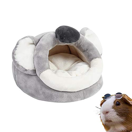PULEIDI Guinea Pig Bed - Washable Guinea Pig Hideout for Winter,Plush Habitat Small Animal Bed Cuddle Sack for Guinea Pig,Chinchilla,Hamsters,Hedgehog - Koala Style