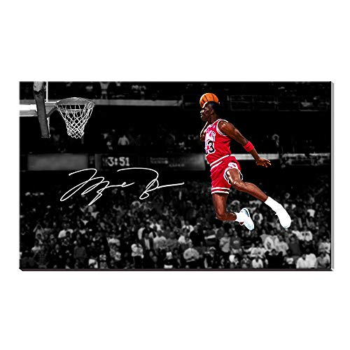 Karen Max Michael Jordan Basketball Giclée-Druck Wandkunstwerk Sport Poster Wohnkultur Leinwand Ölgemälde Bild (Kein Rahmen,80x120cm)