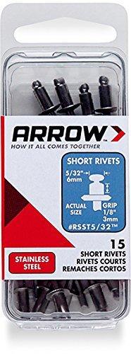 Arrow Fastener RSST5/32 Short Steel 5/32-Inch Rivets, STAINLESS,15-Pack