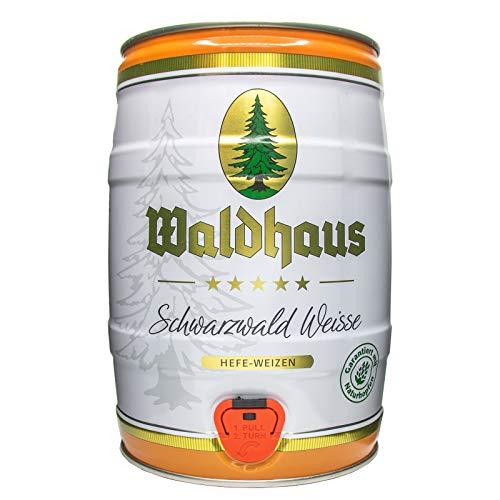 2 x Waldhaus Schwarzwald Weisse Hefe-Weizen 5 L Partyfass 5,6% vol