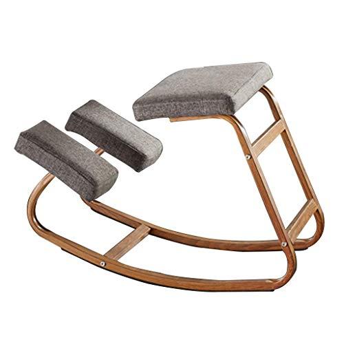 LEILEI Kniestühle Büro Kniestuhl Ergonomischer Kniestuhl Home Student Correction Chair,Lager ca.150 kg (Farbe:Grau,Größe:43,5 * 28 * 54 cm)