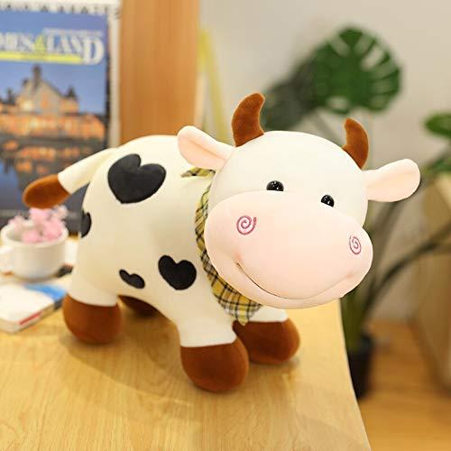 N / A Cute Cattle Cartoon Cow Plush Toy Stuffed Animal Doll Soft Pillow Children Birthday Present 30cm