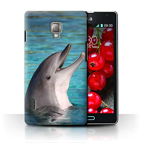 Stuff4® Hülle/Hülle für LG Optimus L7 II/P710 / Nettes Lachen Muster/Delfine Meereslebens Kollektion