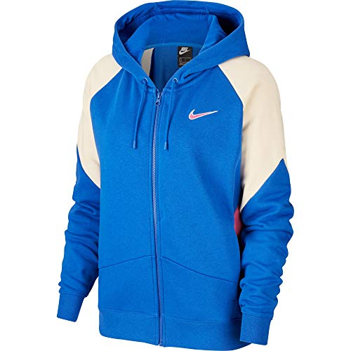 Nike Damen NSW Fz Ft Cb Jacke, Game Royal/Cosmic Fuchsia/FOSS, XXL