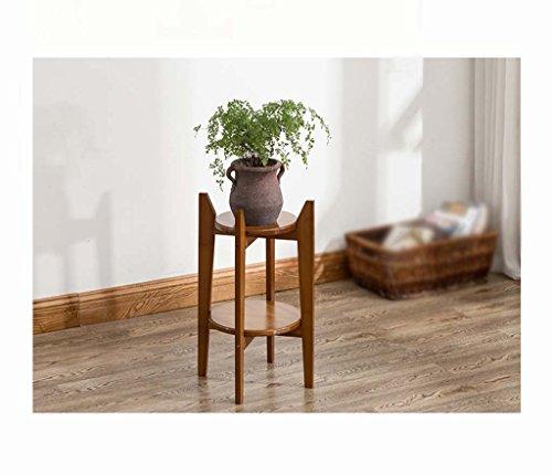 FZN Séjour Chlorophytum voyantes Fleurs Radis Vert bonsaïs Multicouches intérieur Se distinguent des Pots de Fleurs en Bambou Pots de Fleurs (Taille : 30 * 58cm)