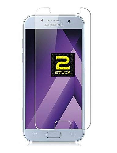 Smartphone-Equipment [2er Pack] Panzerglas für Samsung Galaxy A5 2017 Echt-Hartglas 9H, Glasfolie Schutzfolie Glas Folie Panzerfolie Bildschirm Schutz