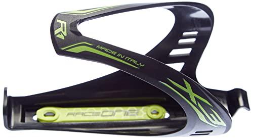 Raceone matt X3 RACE, Portaborraccia per Bicicletta, Ideale per Bici Race, Nero/Giallo (matt BLACK/YELLOW FLUO)