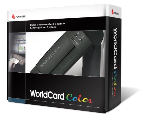 Penpower WorldCardColor Color Business Card Scanner (Windows)