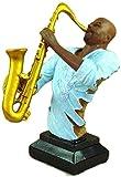 Escultura,Escultura Animal Figuras Y Estatuas De Animales Saxofonista Busto Hecho A Mano Resina Saxofón Tocando Estatua Artesanía Adorno Entrega para Decoración De Pub Y Colección De Arte