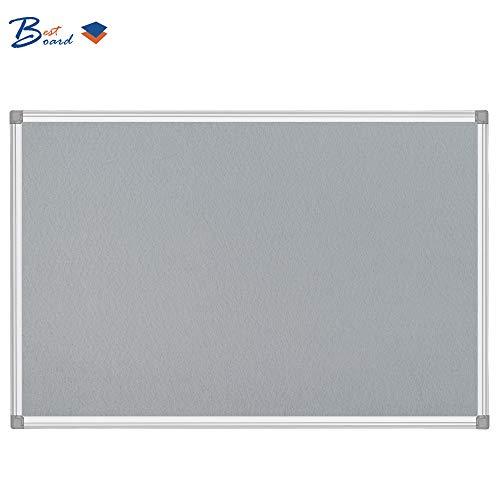 BEST BOARD Notice Board, Pin Board, Bulletin Board, Message Board, Fabric Board, Memo Board, Felt Board, Gray, 24 x 36 Inches, Silver Aluminum Frame Photo #2
