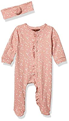 7 For All Mankind Baby Girls Footie, Garnet Rose Print, 0-3 Months
