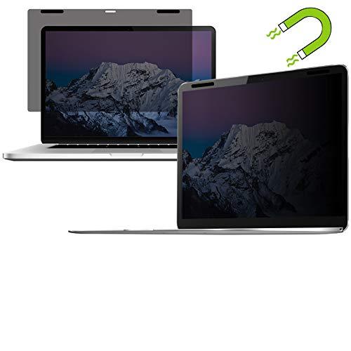 Thorani Privacy Filter Blickschutz Folie Sichtschutzfolie - kompatibel mit Apple MacBook Pro Touchbar 15 Zoll mit Magnet