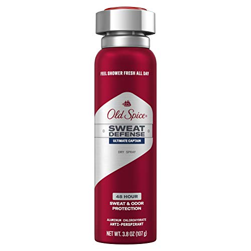Old Spice Invisible Spray Antiperspirant and Deodorant for Men, Captain, 3.8 Ounce (Pack of 12)