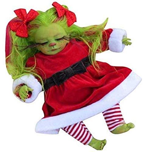 SongJX-Love Grünes Weihnachts-Plüschspielzeug, Grinch Plüsch-Puppe, Dr. Seuss's Grinch-Film Plüschpuppe, realistisches Grinch Weihnachtspuppe Spielzeug Geschenk E, Farbe: B Gzzxw (Color : B)