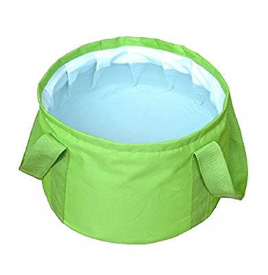 HQST Collapsible Folding 15L Water Bucket with Carrying Pouch Perfect Gear for Camping Hiking Travel