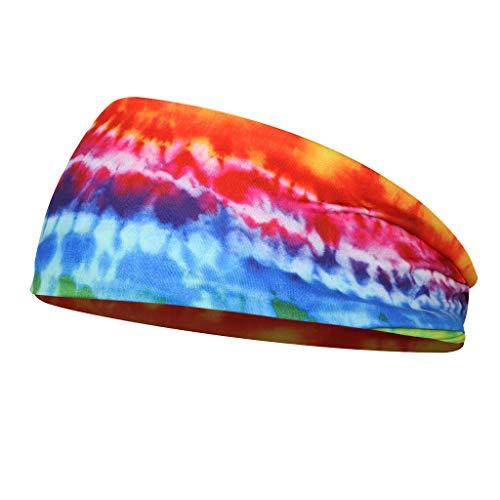 F Fityle Stirnband Damen Herren Schweißbänder Kopfband Headband für Laufen Fahrrad Joggen - B