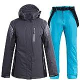 Mltdh Graya7 S Ski complet, snowboard de plein air et femme, pour homme, haut et pantalon de ski, imperméable, respirant et coupe-vent, taille S