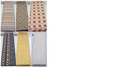 Stoffpaket Bohemian beige verschiedene Größen Baumwolle Stoffreste Webware Patchen Patchwork Baumwollstoff Restepaket Boho Bohostyle Bohochic Hippie Indianer creme braun blau gold rot Mandala