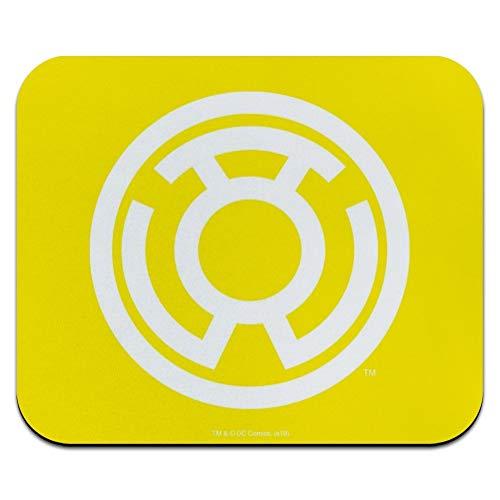 Green Lantern Blackest Night Sinestro Corps Yellow Lantern Logo Low Profile Thin Mouse Pad Mousepad