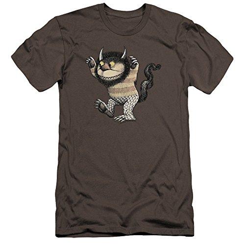 Where The Wild Things Are - Wo die Wilden Kerle wohnen - Männer Slim Fit T-Shirt von Carol, Medium, Charcoal