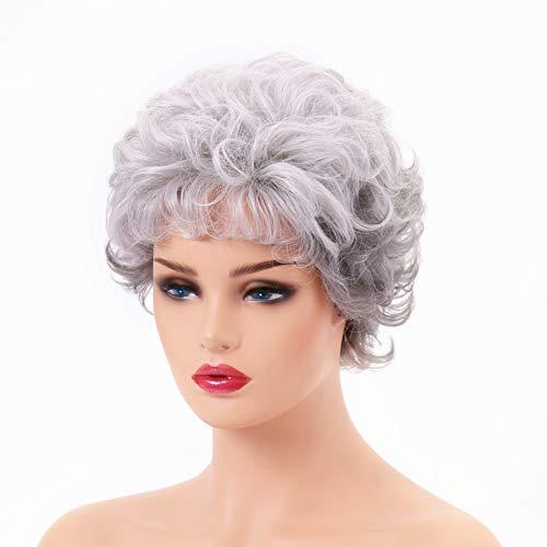 comprar pelucas mujer blanco plateado