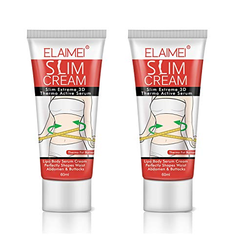 Hot Cream (2PCS), Extreme Cellulite Slimming & Firming Cream, Body Fat Burning Massage Gel Weight Losing, Hot Serum Treatment for Shaping Waist, Abdomen and Buttocks
