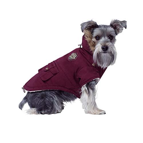 Canada Pooch Parka/Jacke für Hunde, Armeedesign, Größe 14+ W, Kastanienbraun