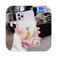 ゲスト 豪華なキラキラ大理石の質感iphone11 Pro Max 78プラス電話ケース用透明ケースiphoneXS XR X SE2用のかわいいソフトキャパ-WY206-8-For iphoneXS