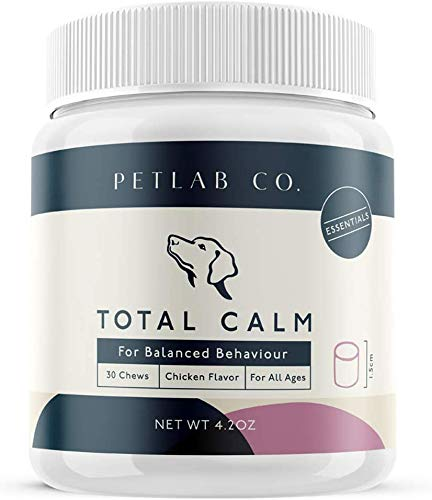 Petlab Co. Total Calm Chews for Dogs Composure | Melatonin Dog Anxiety Relief Bites | Peaceful Pup Calm Stress Rescue Remedy Aid