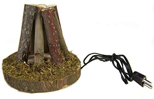 Krippenbau-Lewen Feuerstelle, Lagerfeuer 6 cm aus Ästen für Weihnachtskrippe, für 3,5V Trafo