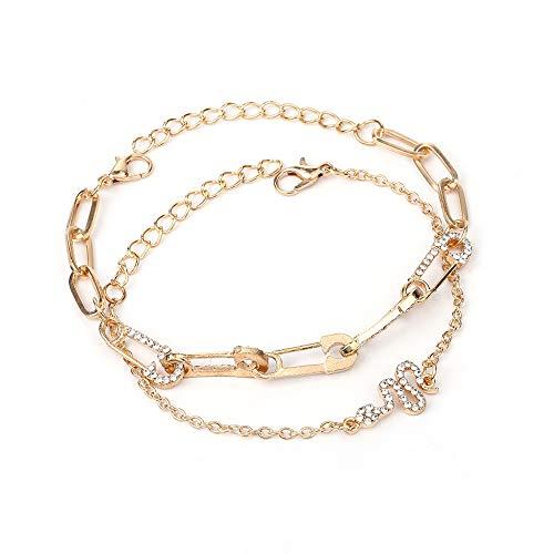 AKKi jewelry Damen Armband Sets Set Angebot Tennis-Armband, in rhodiniert Armkette mit Silber Kristall Perlen bohemischer Stil schmuck verstelbar Türkis