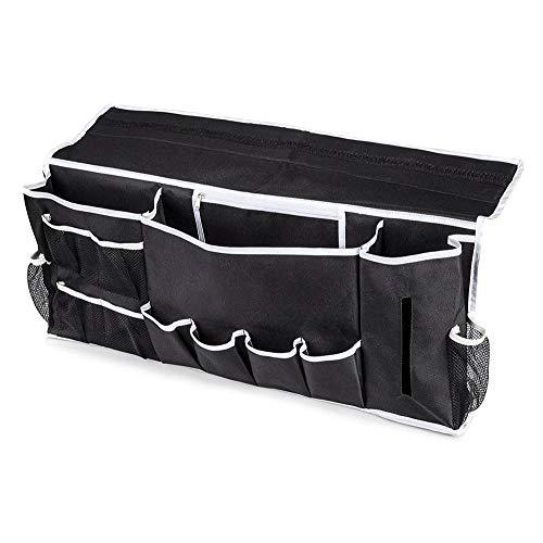 12 Pocket Bedside Caddy Organizer Großes Bett und Couch Hängende Aufbewahrungsfernbedienung, Laptop, Handy, Buch und Magazin