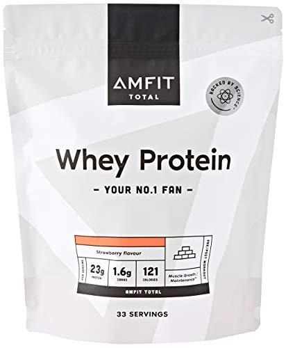 Amazon-Marke: Amfit Nutrition Molkeproteinpulver 1kg - Erdbeere (ehemals PBN)